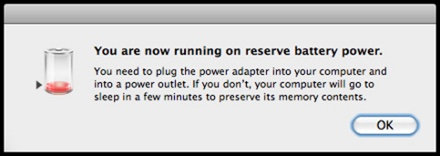OSX Battery Warning